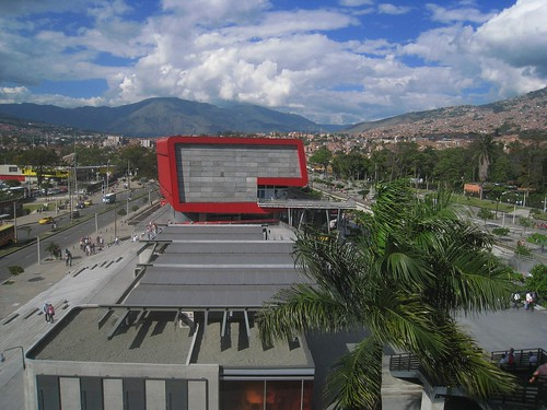 View of Medellin from Universidad metro station