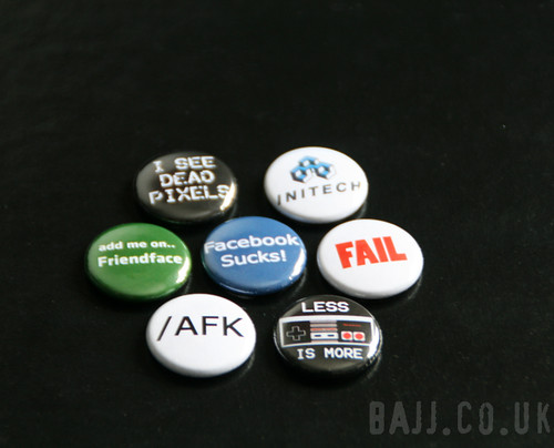 Geeky badges