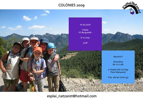 Cartell colònies 2009