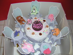 Tea Party Cake - Purple (Box Full of Surprises) Tags: party cup cake gum tea paste cupcake figure piping