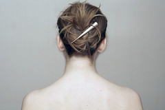 19: Cheating (Genna G) Tags: selfportrait me hair back genna freckles 365 simple updo project365