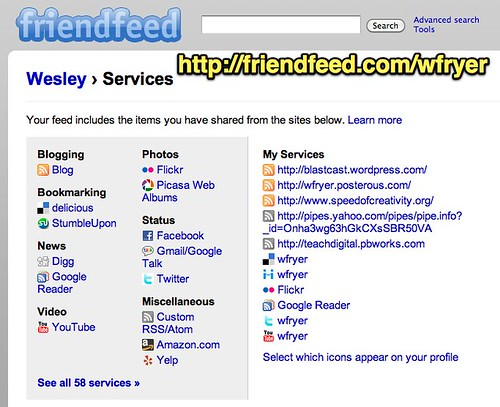 Wesley - Services - FriendFeed