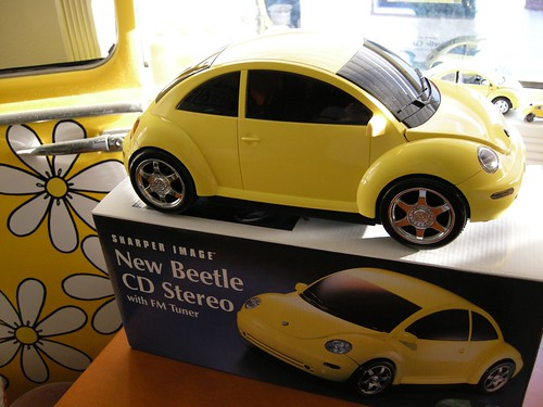 Volkswagen New Beetle Yellow. Yellow New Beetle CD Player