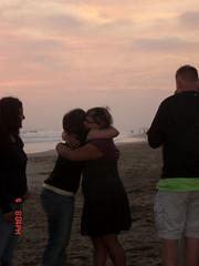 embrace (vim_ardor) Tags: ocean california friends sunset people church hug friendship hazy sadface