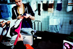 American Apparel (edscoble) Tags: road camera color colour film girl socks 35mm 1 clothing lomo lca xpro lomography xprocess cross bright hill ct slide clothes american soviet 100 process agfa russian brand catalogue checkout notting compact automat apparel 128 32mm londonist precisa kompakt minitar portobelllo