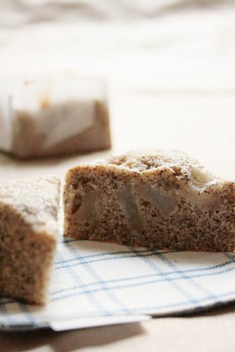 cake au... thé au vanille-rhum et poire