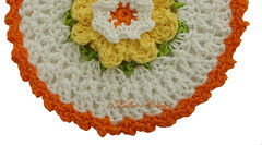 Dishcloth Daffodil (Lallee) Tags: floral handmade crochet dishcloth cotton cottagestyle doily csst
