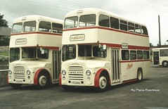 Sisters from Darwen. (Lady Wulfrun) Tags: school bus buses wales o north august darwin 1966 lancashire east corporation lloyd po 1981 service p contract 32 34 lancs clwyd polloyd bagillt ytd287d ytd289d