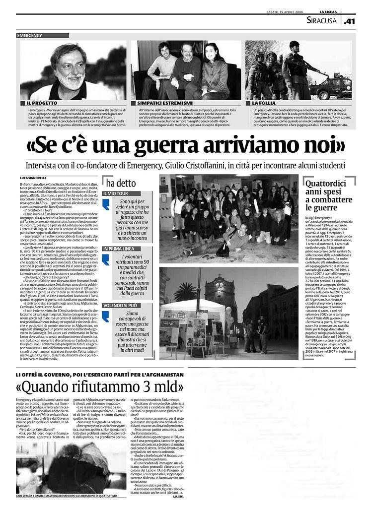 La Sicilia 19 aprile 2008