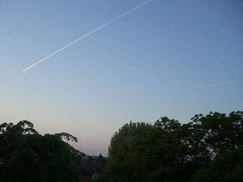 The nearest nice picture I could find - sky scratches, by Gemma Davies