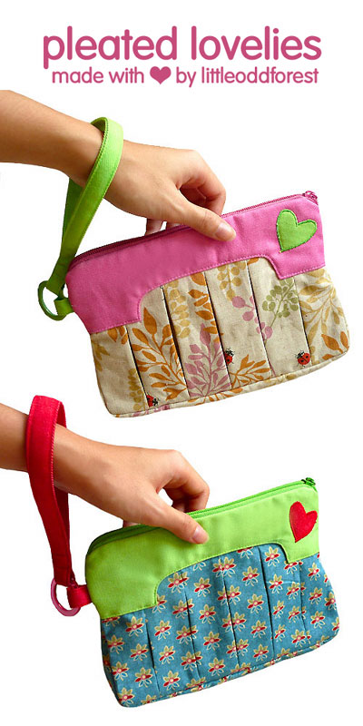 Pleated Love Wristlet