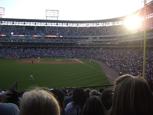 Sunset over Cellular Field