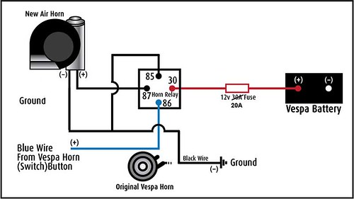 All Things Bajaj Chetak Legend How To Installing Stebel ATV Wiring Diagram For Horn Older: Simple 12v Horn Wiring Diagram At Shintaries.co