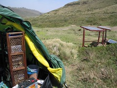 Office tent with solar power (sluggo5) Tags: ethiopia campsite menz guassa