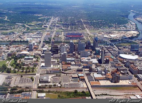 Downtown Nashville Aerial