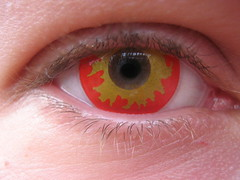 Flame Contact Lense (Sarina Snaps...) Tags: eye flame lense contactlense