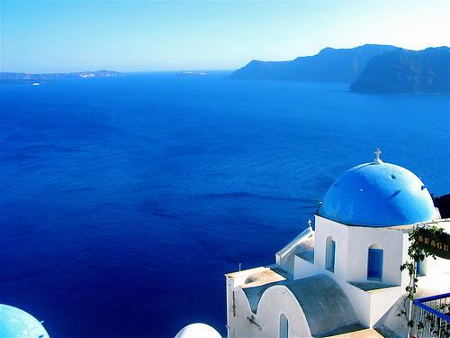 Santorini's Ocean