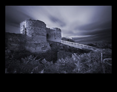 Beeston Castle (mcginnly) Tags: longexposure bridge blackandwhite castle cheshire framing beeston beestoncastle