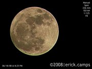 Nikon P80 moon photo by Erick Camps