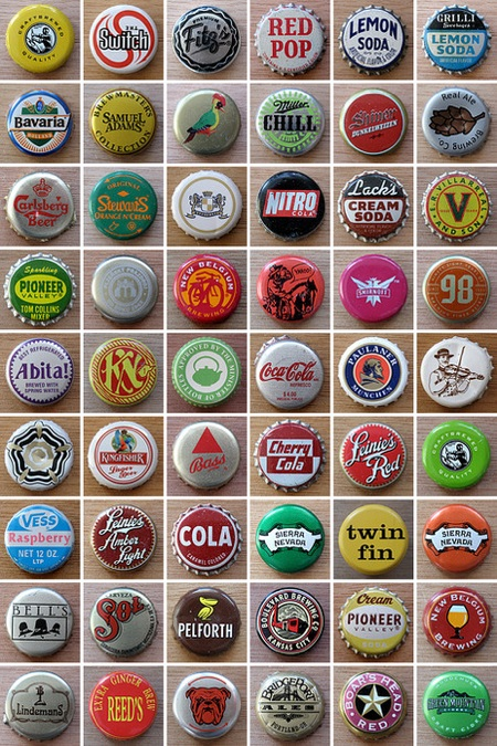 Bottle Cap Collection Display