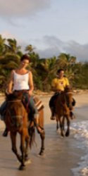 horseback riding at Turtle Island