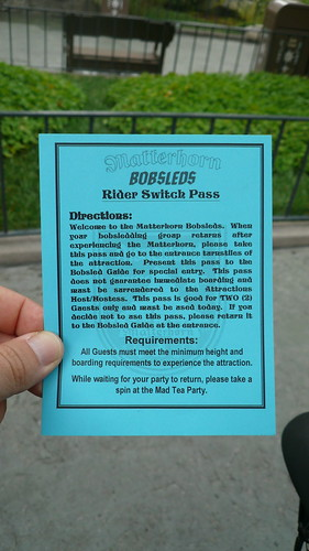 Disneyland Rider Switch Pass