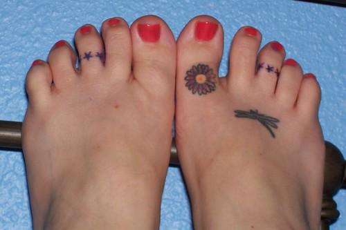 Tattoos Below the Ankle (Group)