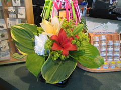 arrangement (anon..) Tags: flowers summer floral burlington vermont lily peony lilies portfolio hosta arrangement vt peonies ladysmantle 05401