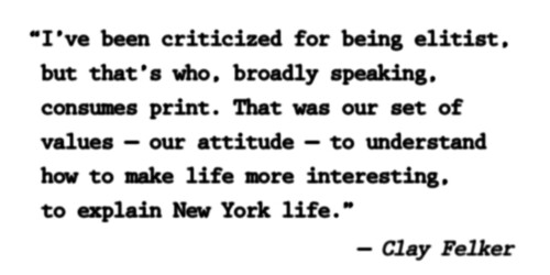 New York Quote from Clay Felker