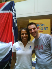 Me and Kelly Holmes