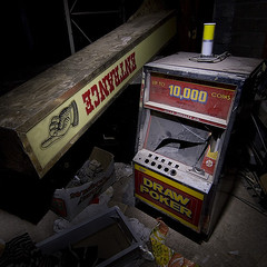 crashed slot machine