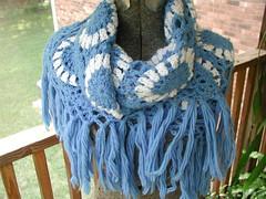Thrifted Blue Shawl