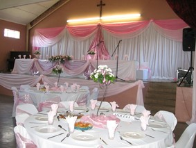 Wedding high table decor