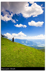 Over The Mountain (Hussain Shah.) Tags: blue boy sky mountain man green clouds d50 austria nikon hill over sigma 1020mm zellamsee kuwaiti shah hussain cokin gnd schmittenhhe abigfave aplusphoto muwali