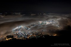 Caracas desde el cerro (andresAzp) Tags: city mountain night clouds lights luces noche ciudad caracas nubes montaa avila caracasdenoche caracasatnight