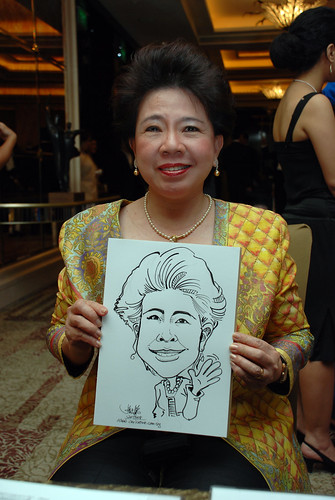caricature live sketching for wedding dinner 120708  - 20