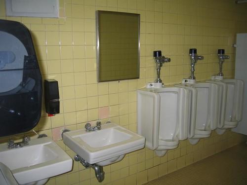 Awkward bathroom mirror