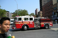 """E015e FDNY """"Fort Pitt"""" Engine 15, Chinatown, New York City (jag9889) Tags: county city nyc ny newyork truck fire chinatown manhattan side lowereastside engine 15 east company borough lower fortpitt 2008 fdny department firefighters seagrave bravest engine15 e015 y2008 jag9889"""