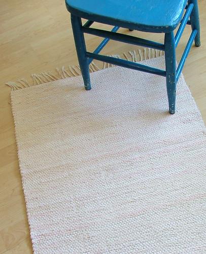 Sweet pink -- hand-woven rug
