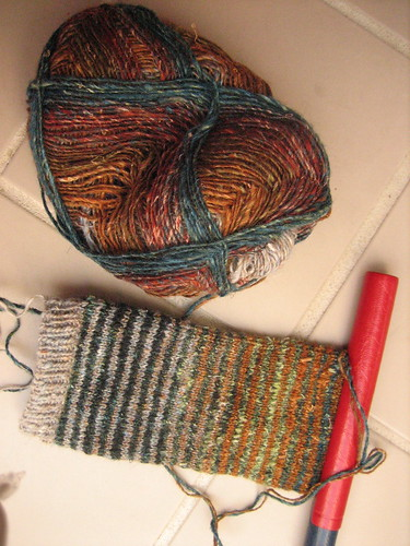 Noro striped mitt