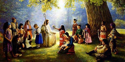 Jesus e a crianças