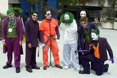 Joker Rumble (scragz) Tags: california people guy canon lenstagged sandiego cosplay group guys 10d batman joker 2008 comiccon comicon canon28105f3545 jokerrumble