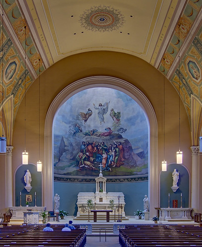 Saint John Apostle and Evangelist Church, in Saint Louis, Missouri, USA - interior