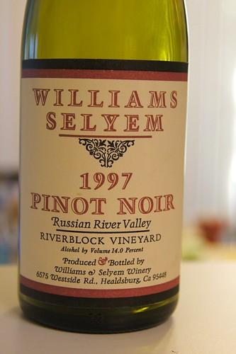 "1997 Williams Selyem ""Riverblock"" Russian River Valley Pinot Noir"