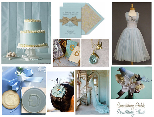 The week we selected an elegant gilded blue wedding invitation from Vera