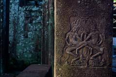 carvings on the wall (elizabethdherman) Tags: cambodia angkorwat siemreap angkor thebayon bayon angkortemples angkortemple