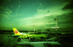 green on green (dwarf 0) Tags: green film airport lomo lca xpro fuji moscow crossprocess expired s7 domodedovo sensia2