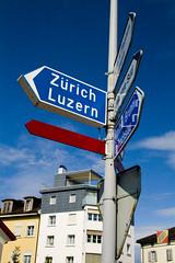 Which Way? (mrs.steiger) Tags: sign switzerland europe roadsign einsiedeln fiveflickrfavs thatscreativity