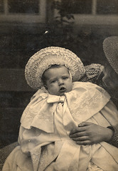 What an amazing outfit! (lovedaylemon) Tags: baby hat vintage found image cape edwardian