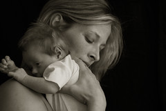 (Magnaza) Tags: bw baby mom